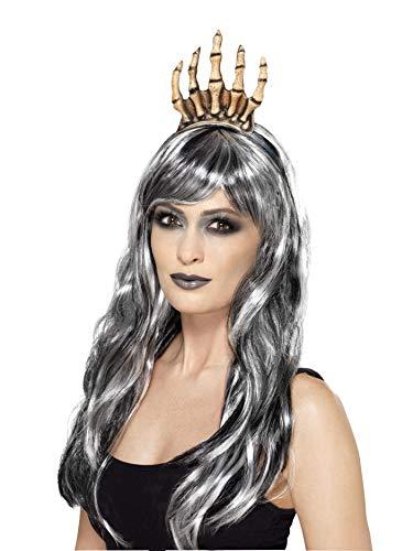 Smiffy's Women's Voodoo Skeleton Bone Halloween Crown