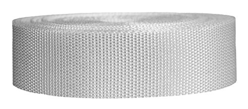 - Strapworks Heavyweight Polypropylene Webbing - Heavy Duty Poly Strapping for Outdoor DIY Gear Repair, 1.5 Inch x 10 Yards, White
