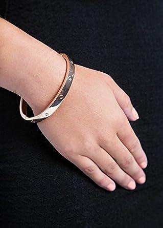 30f779c1c393e Cartier Inspired Lock & Love Bangle - Rose Gold: Amazon.co.uk: Clothing