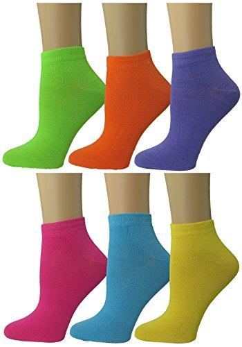 - Womens Colorful Ankle socks Low Cut Summer Socks 6-pack by DEBRA WEITZNER