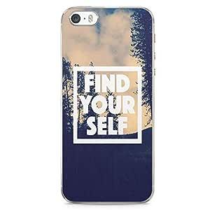 iPhone SE Transparent Edge Phone case Find Your Self Motivation Phone Case Trendy Phone Case Monday Motivation