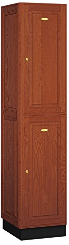 Salsbury Industries 2-Tier Solid Oak Executive Wood Locker with One Wide Storage Unit, 6-Feet High by 18-Inch Deep, Medium Oak (Fitness Center Furniture compare prices)