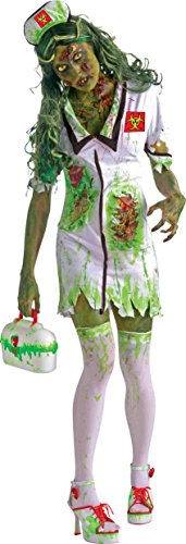 Biohazard-Zombie-Nurse-Adult-Costume-WhiteGreen-Size-One-Size-Standard