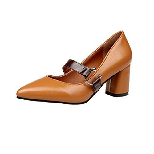 Dames Dames Pumps Puntschoen Pumps Instappers Comfortabele Instapper Blok Hiel Casual Klassieke Loafer Schoenen Beige