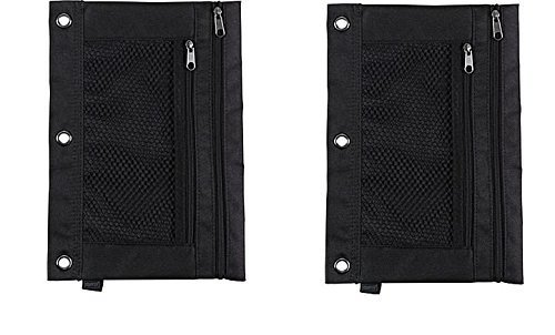 Staples; 3-Ring Pencil Pouch, Black -(2 Pack)