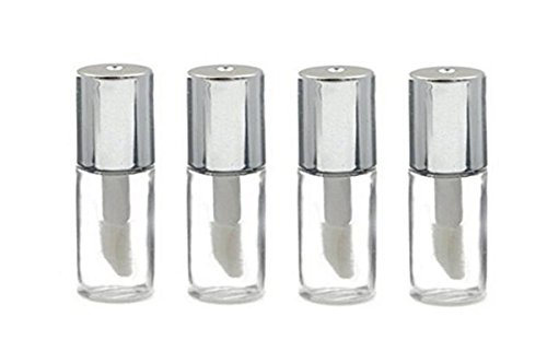 12PCS 1.2ML 0.04oz Empty Refillable Plastic Lip Gloss Lip Balm Tube Bottle Container Vials Mini DIY Lipstick Makeup Tube Bottle (Black (0.04 Ounce Vial)