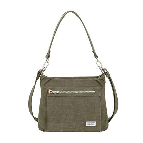 Travelon Anti-Theft Heritage Hobo Bag, Sage, 11.5 X 9.5 X 3