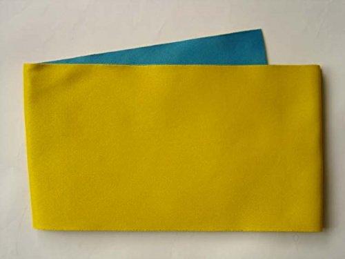 くるくる想定するインターネット超長尺 リバーシブル浴衣帯(無地 からし 青) 440cm 大きいサイズ ロング 半巾帯 LLサイズ 半幅帯 日本製 レディース