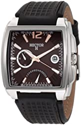 Hector Men's 665231 Stainless-Steel Dual-Time Date Watch
