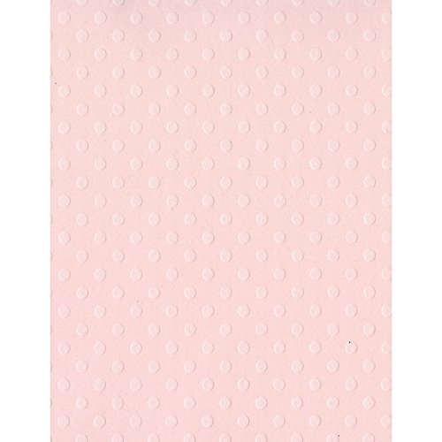 Bazzill 25 Sheets Dotted Swiss Soft Shell, 8.5 x 11 DOTSW8-5075
