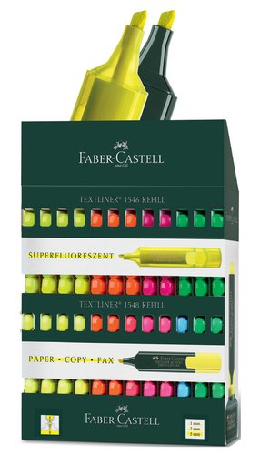 Faber Castell 154820 – Exhibitor of 120 Text Markers Fluorescent, 1 Unit