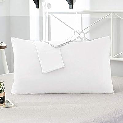 RAQ 2Pcs 100% algodón Funda de Almohada Tejido Suave Funda de Almohada de Color sólido Varias especificaciones Fundas de Almohada Personalizable 66x66cm 2 Piezas ZY-Chun BAI: Amazon.es: Hogar