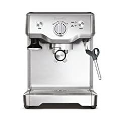 The Duo-Temp Pro from Breville can extract one or two espresso shots at a time. The 15 bar Italian-made pump starts with low pressure to bloom coffee grounds, then gradually increases pressure for extraction. Manually control the volum...