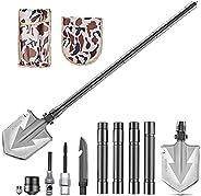 Voyoly Military Folding Camping Shovel, 36inch/92cm Multifunctional Spade Survival Garden Shovel Kit, Portable