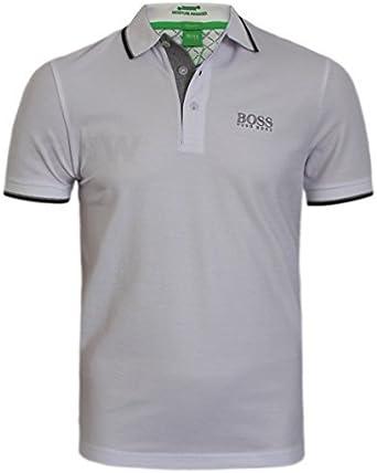 Hugo Boss Hombre Blanco Peppo Golf Pro Polo Camiseta 10103386 - Blanco, Grande: Amazon.es: Ropa y accesorios