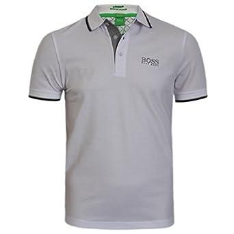 Hugo Boss Hombre Blanco Peppo Golf Pro Polo Camiseta 10103386 ...