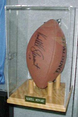 Football Display case Vertical Solid Oak Base P320V (Oak Base Football Display Case)