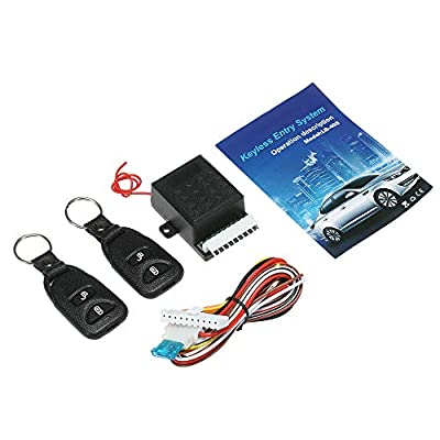 KKmoon 12V Universal Car Remote Central Kit, Door Lock Locking Vehicle Keyless Entry System, with 2 Remote Control: Automotive