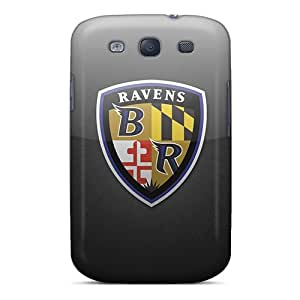 Bumper Hard Cell-phone Cases For Samsung Galaxy S3 With Custom Attractive Baltimore Ravens Image MansourMurray