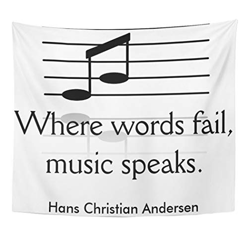 Semtomn Tapestry Artwork Wall Hanging Hans Music Speaks Andersen About Teachers Teaching Musical 60x80 Inches Home Decor Tapestries Mattress Tablecloth Curtain Print]()