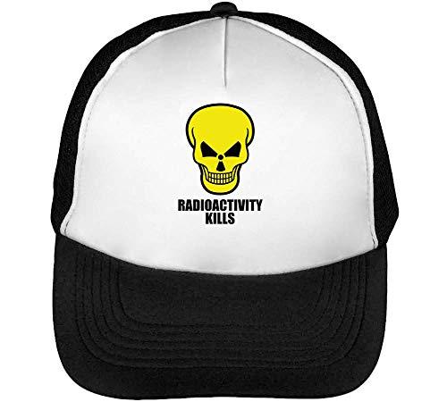 Radioactivity Kills Negro Gorras Skull Blanco Snapback Hombre Beisbol wpv4wraq