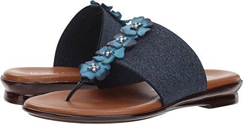 ITALIAN Shoemakers Women's Genieve Slide Sandal, Denim, 8.5 M (Athletic Denim Sandals)