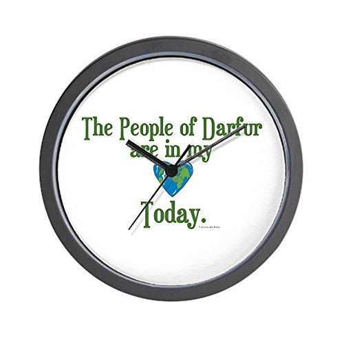 Darfur Heart - CafePress - Darfur Heart 3 Wall Clock - Unique Decorative 10