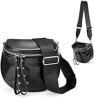 Realer Lightweight Crossbody Bags for Women Bucket Bag Chic Phone Purse with Tassel | Zipper Pocket | Adjustable Strap Black