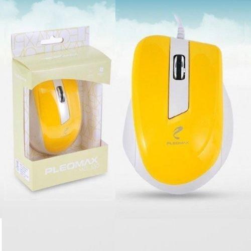 Pleomax Usb - PLEOMAX MO-550 Mouse Wired optical USB Mouse 1000dpi MO550 Yellow