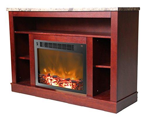Cambridge Seville Fireplace Mantel with Electronic Fireplace Insert, Mahogany - Mahogany Fireplace Mantel