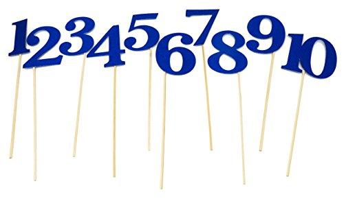 Table Number Wedding Centerpiece Sticks for DIY Reception Decor (Royal Blue)