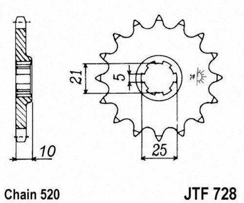 JT Sprockets JTF728.15 15T Steel Front Sprocket