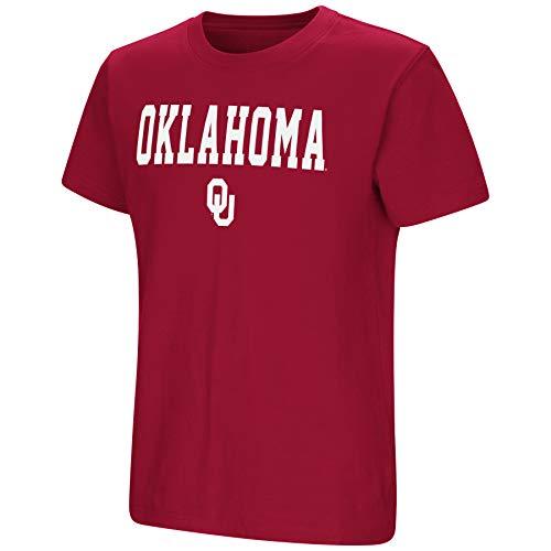 Crimson Youth Fan Gear - Colosseum NCAA Youth Boys-Talk The Talk-Cotton T-Shirt-Oklahoma Sooners-Crimson-Youth Large