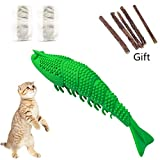 Cat Catnip Toy, Cat Toothbrush 2019 3rd Cat Toothbrush Toy, Crayfish Shape Interactive Cat Chew Toys Dental Care and Teeth Cleaning for Kitty Cats