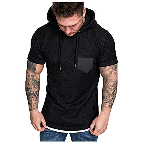18 Oz Black Vinyl Polyester - AOJIAN Men T Shirts Short Sleeve T-Shirt Hoodie Bodybuliding Tee Shirts Tunic Blouses Vest Tank Tops Black