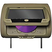 Tview T939DVPLTAN Tview 9 Headrest Monitor with DVD Player Sold in Pairs Tan