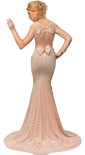 New Ladies Hollow Out sirena estilo vestido de noche vestido de cóctel fiesta Prom Vestido Fiesta