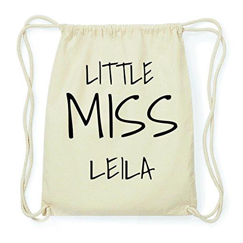 JOllify LEILA Hipster Turnbeutel Tasche Rucksack aus Baumwolle - Farbe: natur Design: Little Miss