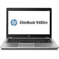 HP EliteBook Folio 9480M 14 Intel Core i7-4600U 2.1GHz 8GB 128GB SSD Windows 10 Professional (Certified Refurbished)