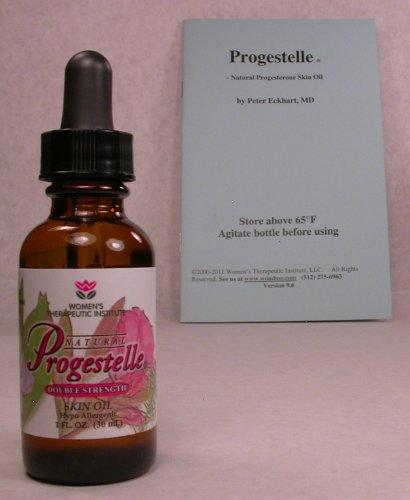 Progestelle progestérone huile Purer que la progestérone crème, sans conservateurs, bio-identique, naturel, topique - sans parfum, ni émulsifiant ET LE LIVRET -Premier Timers- 1 oz 800 mg / oz FORCE DOUBLE