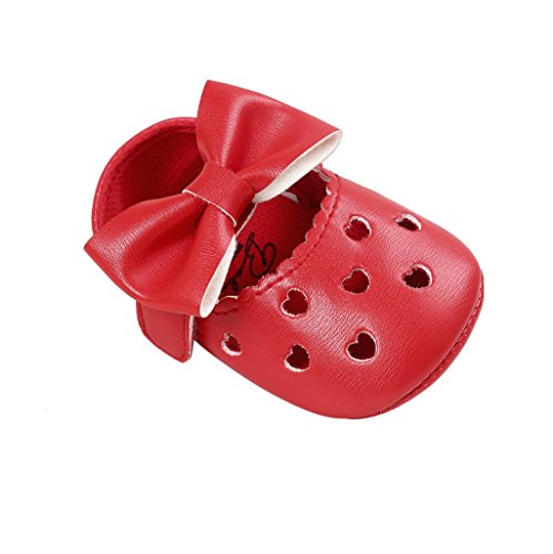 Bowknot Girl 0 mesi pantofole auxma antiscivolo Shoes pelle Baby 18 Bb morbida per singolo in FpBatqxn