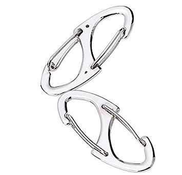 Unbekannt Simply The Silber Oder Schwarz S-Ringb/ücher ~ 41/mm Lang Karabiner Clips ~ Bruchlast 15/kg ~ Qualit/ät Zink Legierung Snap Haken