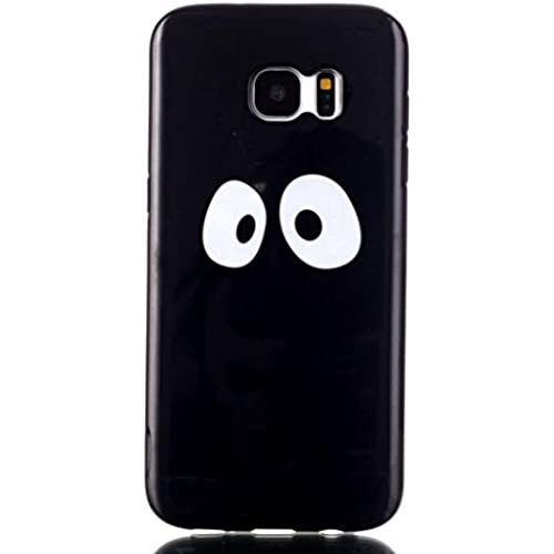 ABC Eyes TPU Gel Back Cover Skin Soft Case for Samsung Galaxy S7 Edge Black Sales