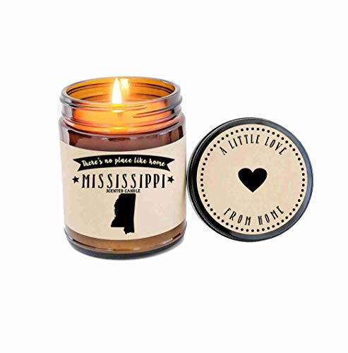 - Mississippi Scented Candle Missing Home Homesick Gift Moving Gift New Home Gift No Place Like Home State Candle Miss You Valentines Day Gift