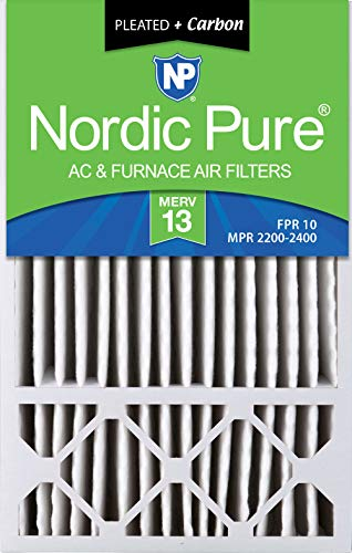 (Nordic Pure 16x25x4/16x25x5 (4-3/8 Actual Depth) MERV 13 Plus Carbon Honeywell FC100A1029 Replacement Pleated AC Furnace Air Filter, 1 Pack)