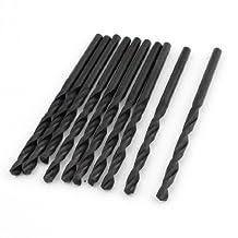 10 pièces 3mm Diamètre droite Twist Shank Bits noir pour perceuse électrique