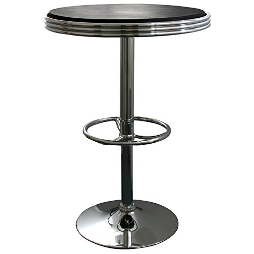 Buffalo Tools Bistro Table in Black and Silver