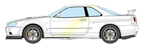 - Mike up Eidolon 1/43 Nissan Skyline GT-R (BNR34) V Spec II Nur 2002 White Pearl Finished Product