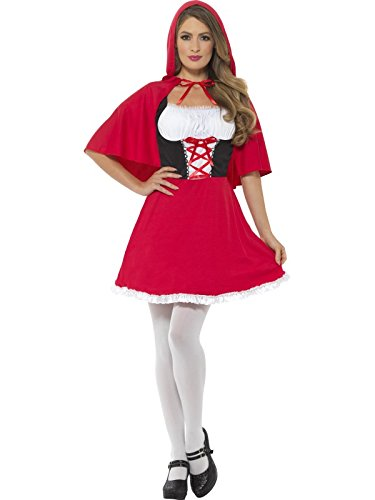 Smiffy's Women's Riding Hood Costume, Red,