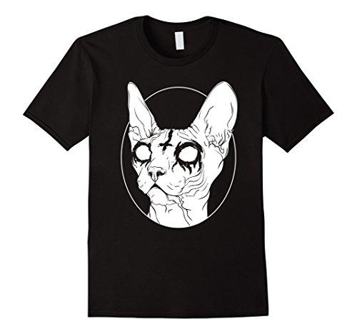 Mens Black Metal Sphynx Cat I Goth and Death Metal T-Shirt 2XL Black (Clothing Heavy Metal)